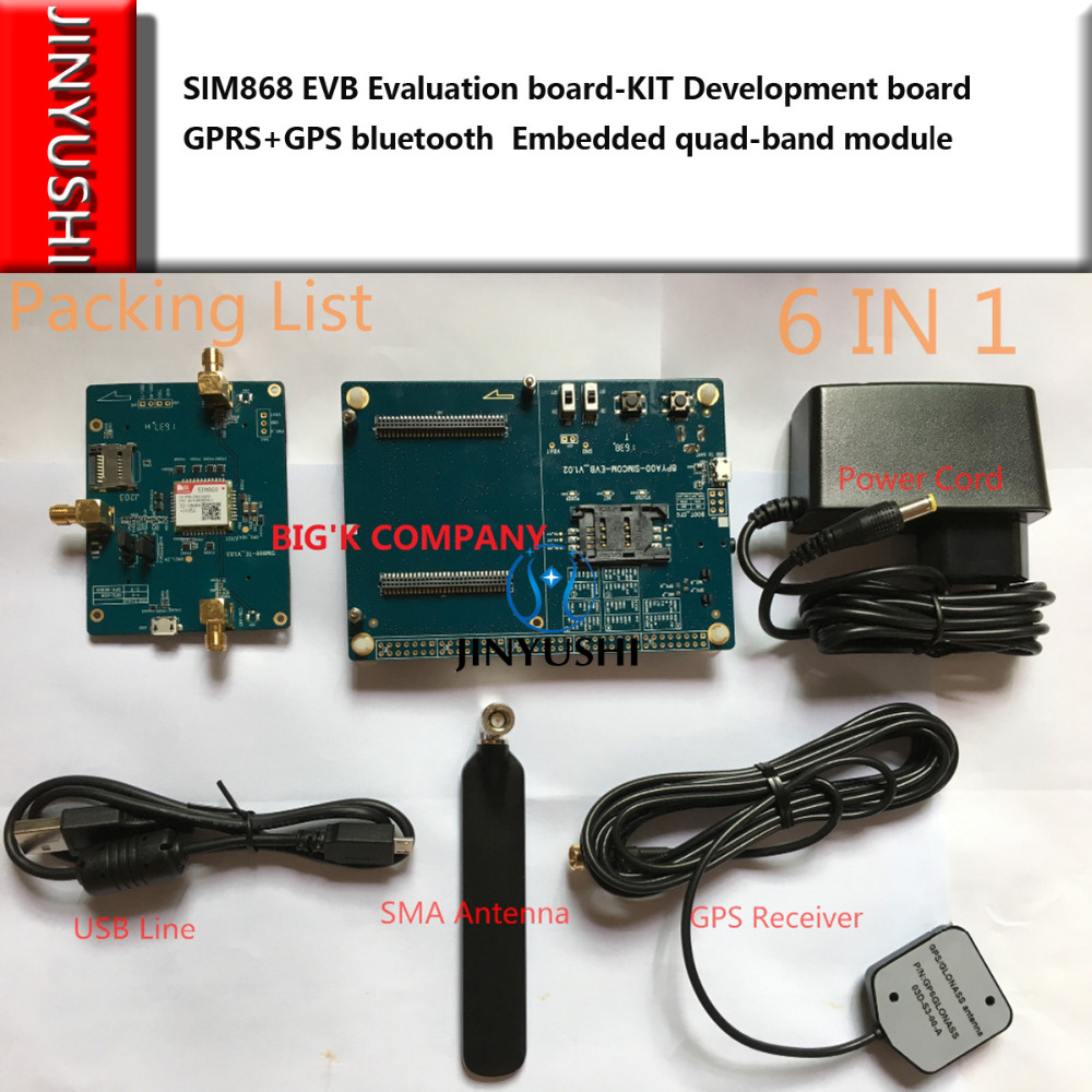 Modems Selfless Original Simcom Sim868 Evb Evaluation Board-kit Development Board Gprs+gps Bluetooth 100% New&original Embedded Quad-band