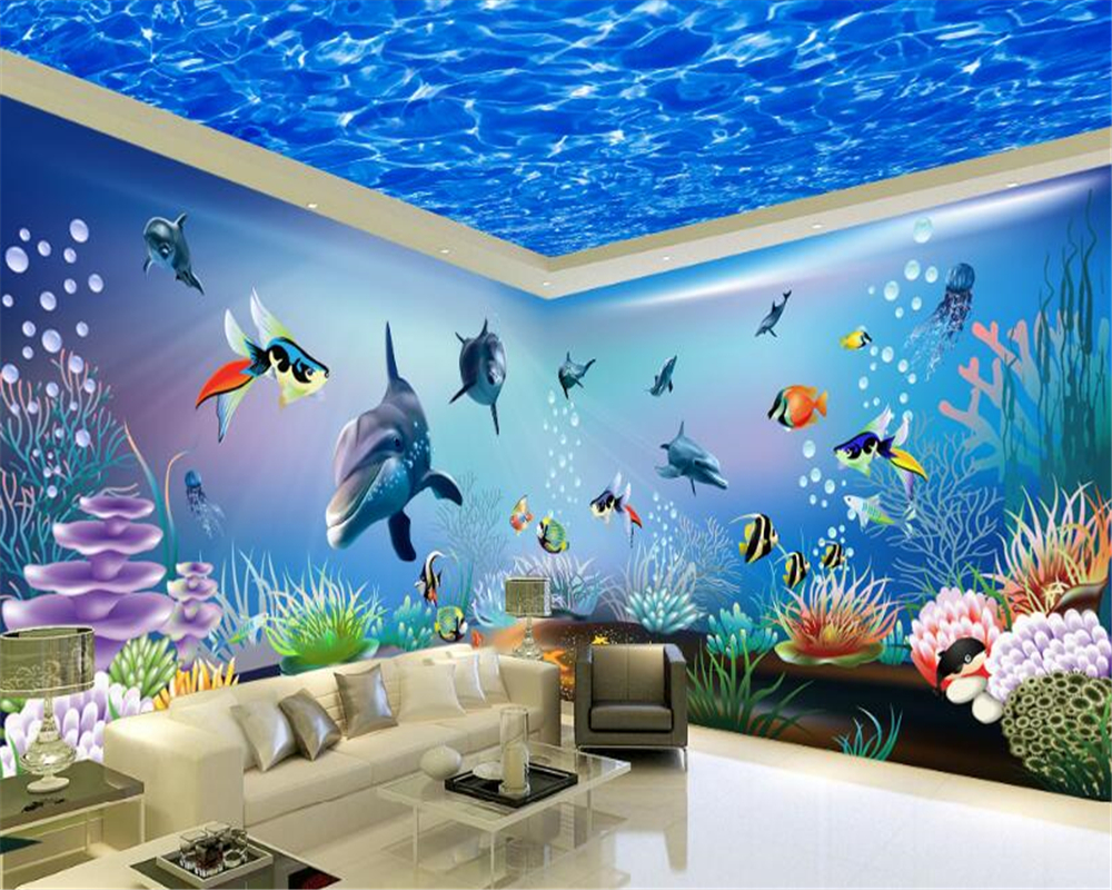 beibehang High definition personality decorative painting wall paper children s small animal theme space background 3d