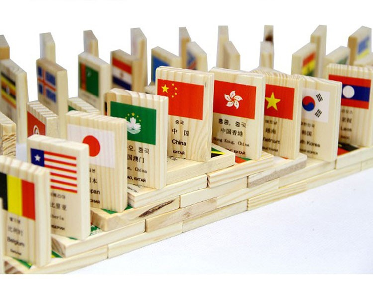 Aliexpress.com : Buy Russian English Chinese Korean Language ...Aliexpress.com : Buy Russian English Chinese Korean Language National Flag  Geography Children Kids Wooden Educational Domino Block Toys, 1SET=100PCS  from ...
