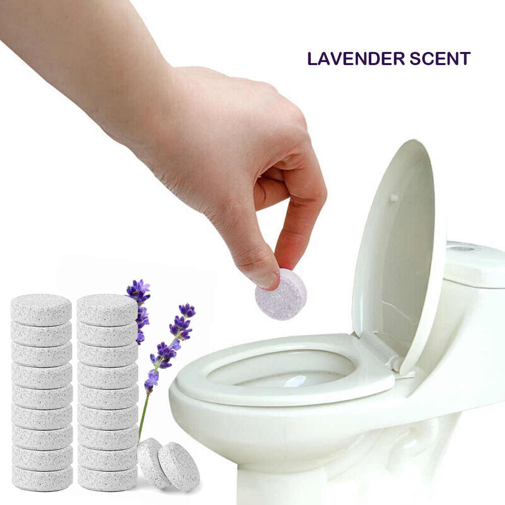 10 pcs High-efficiency Bruisende Cleaner multifunctionele Geverfd Lavendel Essentie 16 MM Cleaning Vel Thuis Cleaning Tools
