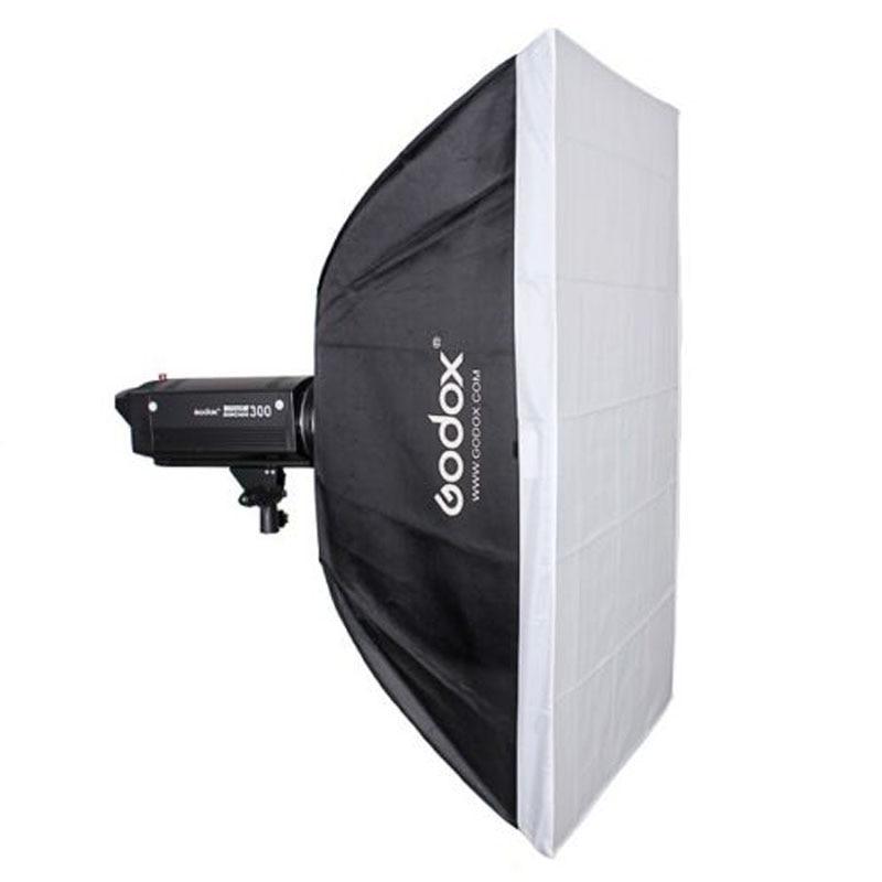 Godox 60cm x 90cm Speedlite Studio Strobe Flash Photo Reflective with Metal Bowens Mount Softbox Diffuser godox 35x160cm photo strobe studio flash softbox for bowens mount godox de qt dp de sk sp gs studio flash