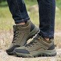 Botas de Homens Caminhadas à prova d' água Para Ao Ar Livre Sapatos de Caminhada Casual Trabalham Em Empregos Militar Tático de Combate Do Exército Respirável Planas Tamanho 39-44