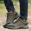 Hombres impermeables Senderismo Botas Para Caminar Al Aire Libre Ocasionales Zapatos de Trabajo Puestos de Trabajo Militar Táctica de Combate Del Ejército Transpirable Plana Tamaño 39-44