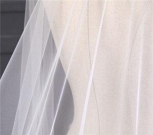 Image 5 - הגעה חדשה אביזרי חתונה קוריאני סגנון אפליקציות תחרה 3m * 1.5m קתדרלת רעלה התחרה Edge כלה רעלה ללא מסרק