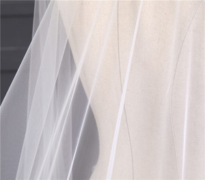 Image 5 - جديد وصول اكسسوارات الزفاف الكورية نمط يزين الدانتيل 3m * 1.5m كاتدرائية طرحة زفاف الدانتيل حافة الزفاف الحجاب دون مشط