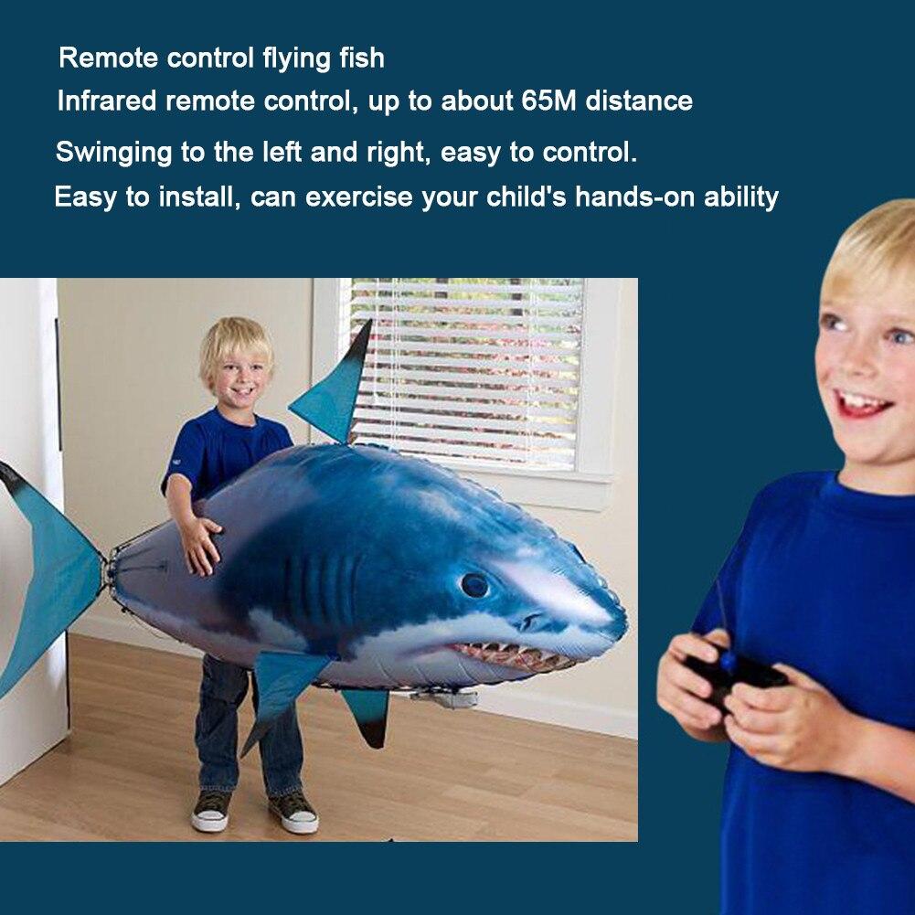 1pc controle remoto voando ar tubarão brinquedo