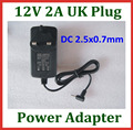 2pcs 12V 2A 2.5mm UK Charger Power Supply Adapter for Tablet PC Yuandao N101 2 Cube U9GT5 U9GT2 U30GT2 Vido N90FHD Ainol Hero