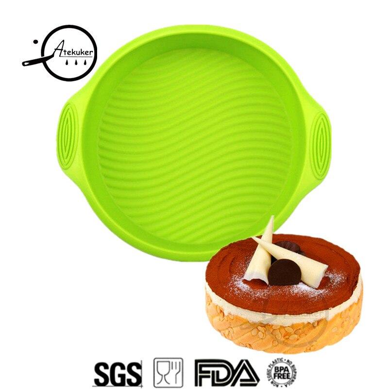 Atekuker Forma rotunda Silicone Cake Forme de coacere Instrumente - Bucătărie, sală de mese și bar