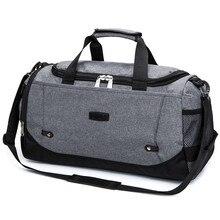 Купить с кэшбэком New Travel Bag Large Capacity Men Hand Luggage Travel Duffle Bags Nylon Weekend Bags Multifunctional Travel Bags lx01