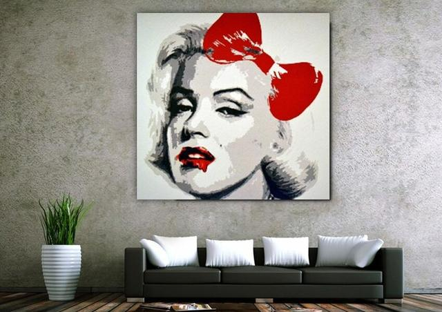 Moderno Pop Art Marilyn Monroe pintura al óleo arte de edición ...