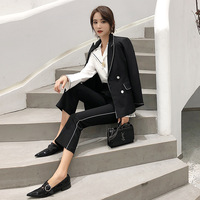 Women blazers and jackets 2019 new style fashion OL temperament commuter ladies casual professional small suit jacket women