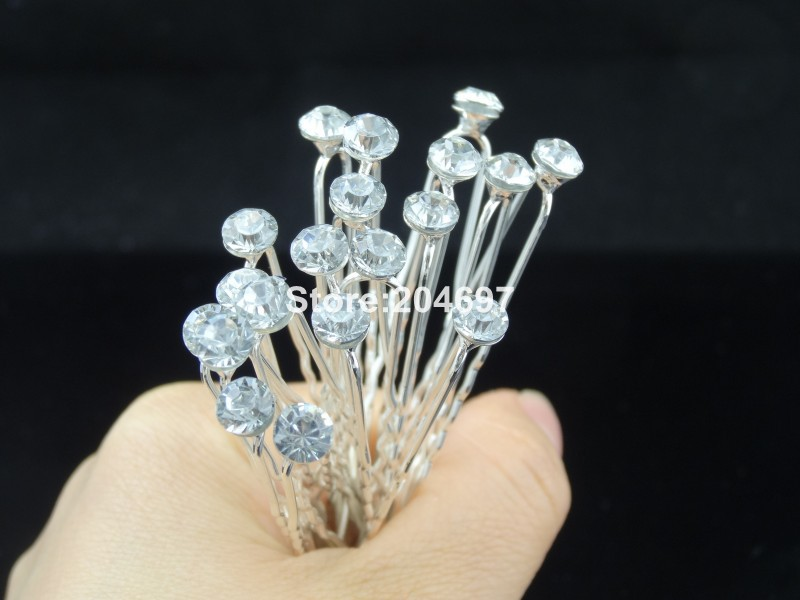 Feelgood Wholesale 200pcs lot 6mm   8mm Single Crystal Rhinestone Hair Pins  Wedding Hairpin Bridal Hair Accessories-in Hair Jewelry from Jewelry ... adfd9c5465d1