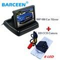 """LCD de pantalla ancha de 4.3 """"la exhibición del coche del monitor y 8 led impermeable cámara de reserva del coche para VW Touareg/old Passat/Polo Sedán"""
