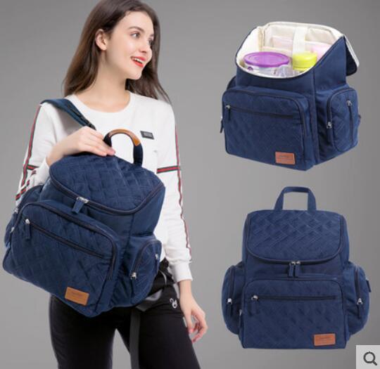купить LANDUO Multifunction Mummy Mother Bag Large Capacity Diaper Nappy Bag Backpack Newborn Baby Pad Changing Bag For Stroller по цене 2243.24 рублей
