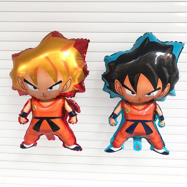 10pc 73X47cm 7 Dragon Ball Z Toy Foil Balloons Baby Son Goku Inflatable Ballon