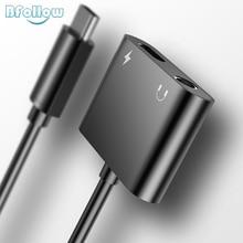 BFOLLOW C tipi 3.5mm kulaklık/USB C PD 3.0 hızlı şarj kablosu için Huawei Mate 20 20X p20 Pro Xiaomi 6 iPad Pro 2018 adaptörü