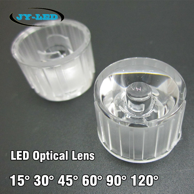 50pcs/lot Waterproof LED Lenses 15 30 45 60 90 120 Degree, 20mm Optical PMMA LED Collimator Lens For Wall Washer Lamp  цены