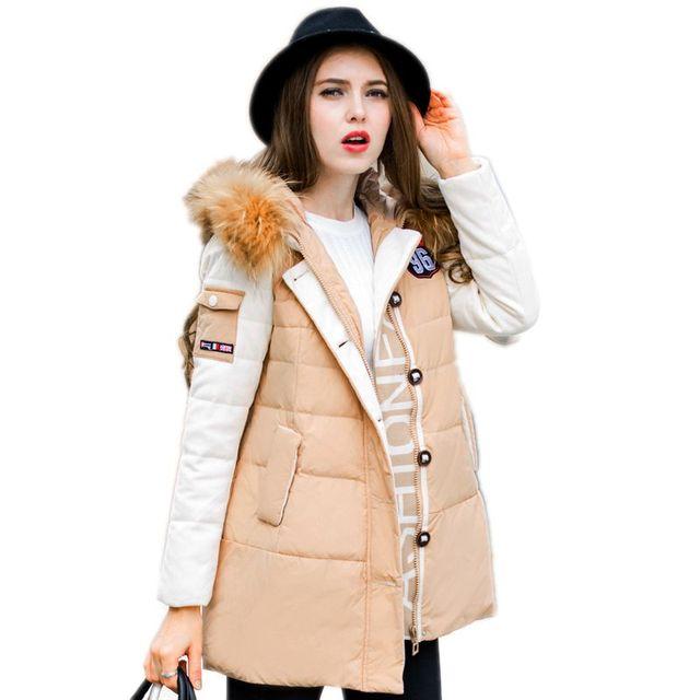 Fashion Winter Coats Women British Style Down Coat 2017 New Arrival Women's Winter Jacket Long Parka Hooded Female Jackets Y739