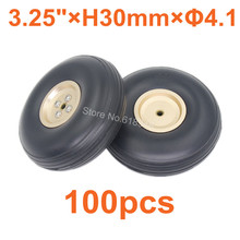 100pcs Lot 3 25 83mm Quality PU Rubber Tail Wheel Alloy Hub Thickness 30mm Axle hole