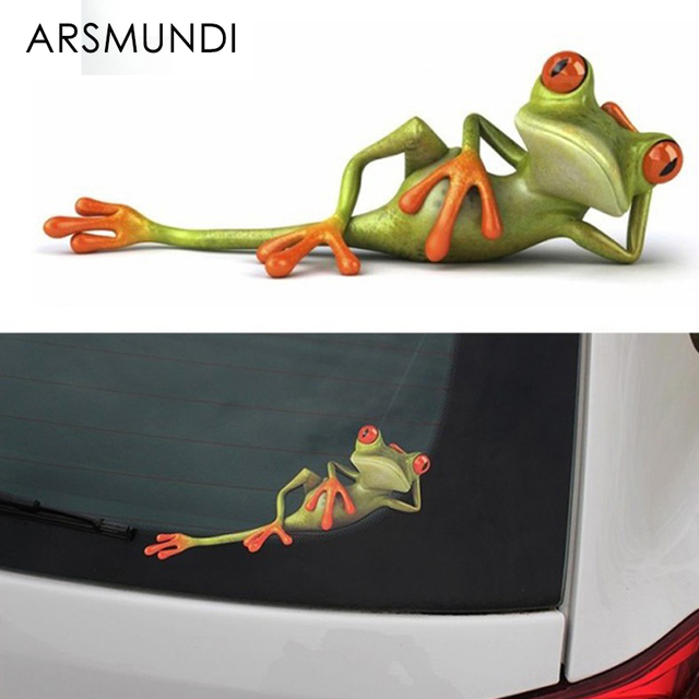 3d frogs funny car stickers car styling new arrival vinyl decal sticker decoration high temperature