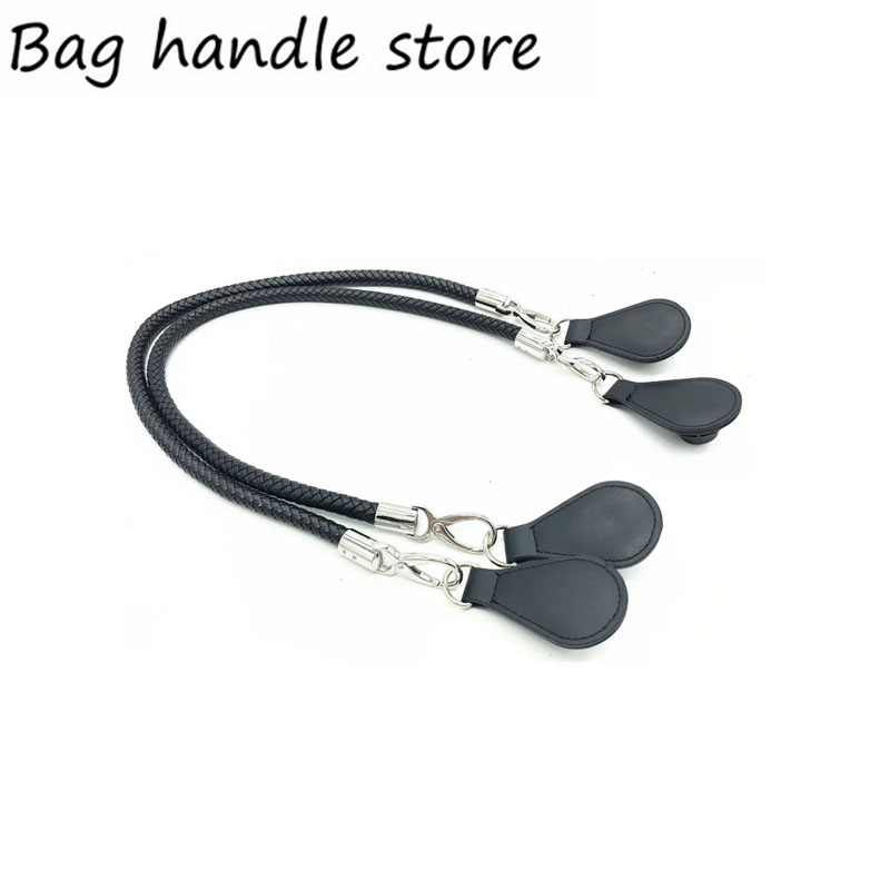 new sliver and black color handle for obag Bags Shoulder Handbag drops for O Bag 70 cm 65 cm handle new colorful cartoon floral insert lining for o chic ochic canvas waterproof inner pocket for obag women handbag