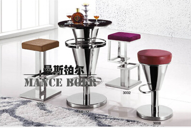 Bar Chairs Furniture Hot Sale European Fashion Stainless Steel Bar Chair To Restore Ancient Ways Jewelry Chair Recreational Chair At The Front Desk 003 Pleasant In After-Taste