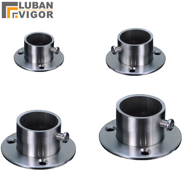 So strong,Stainless steel pipe support,Wardrobe clothes rail flange,Balcony fixed drying rack base,furniture parts