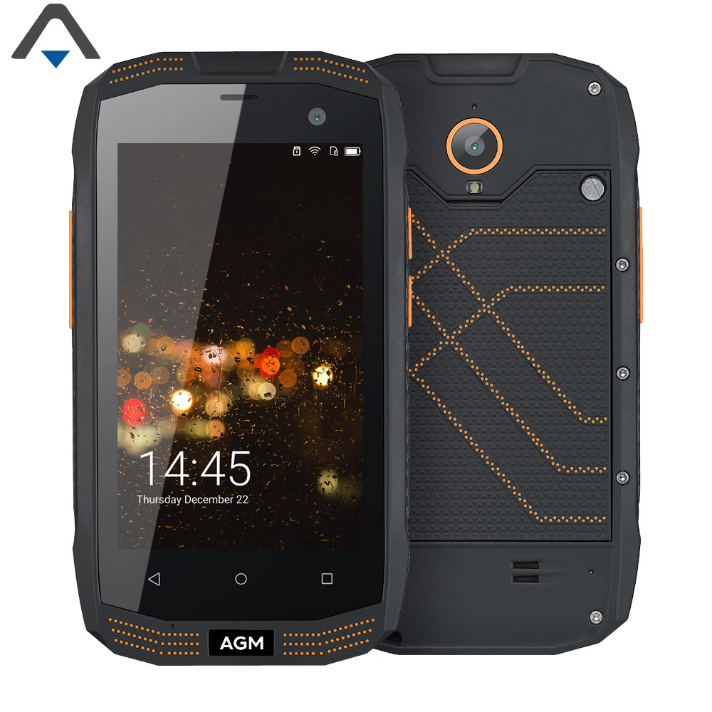 Original AGM A2 16GB ROM 2GB RAM Quad Core 4 inch IP68 mobile phone Waterproof NFC 2600mAh Android 5.1 smart phone no Russian
