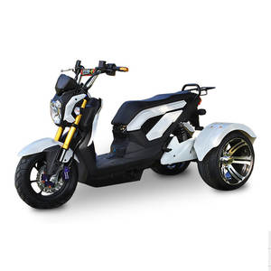 Electric Scooter Bicycle Citycoco Lithium-Battery Three-Wheels LED 800W 72V/20A