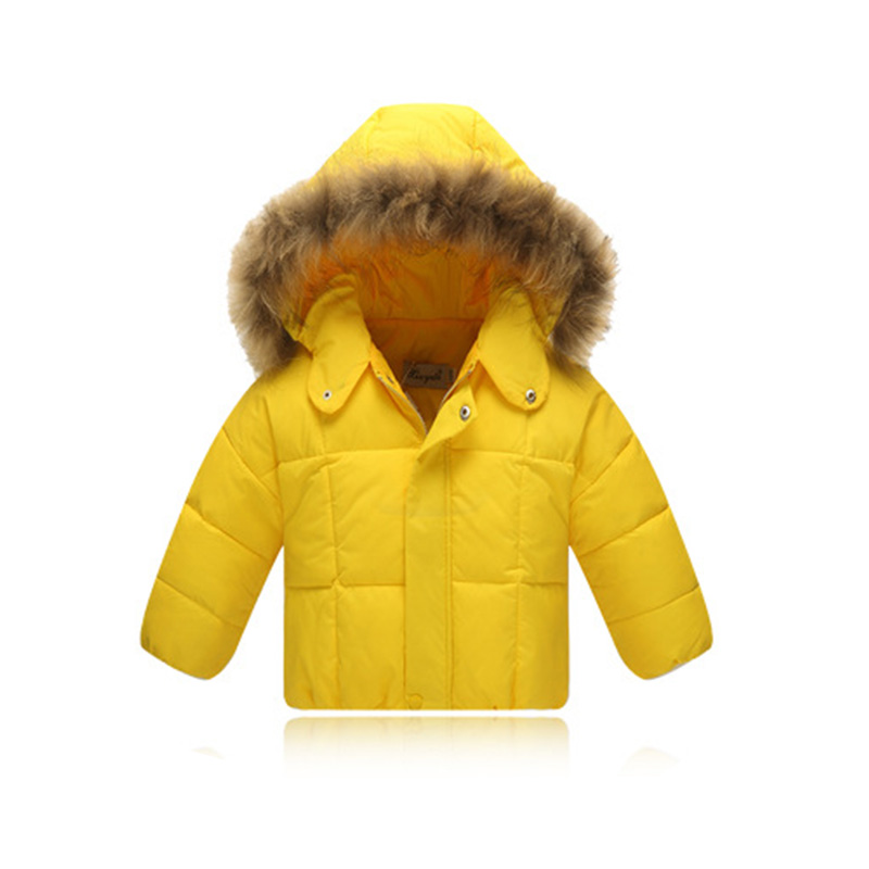 ФОТО 2016 Children Down Coat  Winter Down Jacket whit real fur Kids Thicking Warm Hooded Jacket hooded Boys Girls Casual Outerwear 6-