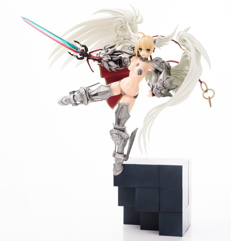 Anime Fate EXTELLA Saber Nero 1/10 GK Resin White Model Doll Action Figure Collection Model Toys game monster hunter gk white model 1 6 gk resin model doll action figure collection model toys