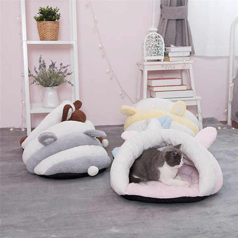 Hoomall маленькая собака кошка спальный мешок щенок Лежанка-домик инструменты для ухода за домашними животными милые плюшевые зимние теплые тапочки форма с заячьими ушками кошка спальный мешок