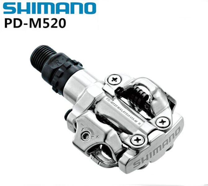 цены на Shimano Bike pedals PD-M520 SPD pedals Racing Self-Locking Clipless Mountain MTB Bicycle pedals PD M520 Cleat Flat Parts в интернет-магазинах