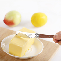 Laguiole Style Butter Knives Spreaders Set Stainless steel Wood Handle Cheese Butter knife 6.25'' Cutlery knife Kitchen Utensils