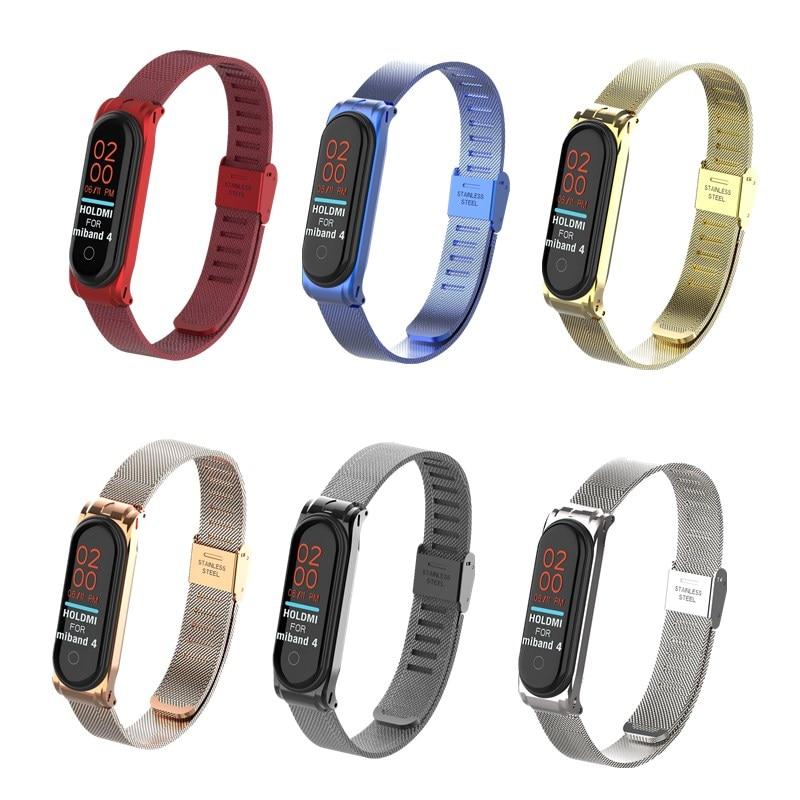 Metal Strap Bracelet Mi Band 4 3 Wrist Strap 4 3 NFC Straps Stainless Steel MiBand 4 3 Wrist Band Strap For Xiaomi MiBand