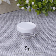 5g Plastik Jar Tutup Putih Kecil, Cream Jar Packing, kosong Putaran Jar, Packing Kotak, kosmetik Krim Jar, putaran Kontainer, 50 pcs(China)