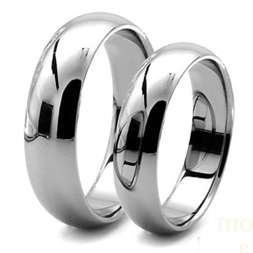 Tailor Made 6mm & 4mm Classic His & Her Titanium Rings Matching Wedding Bands Size 3-18 (#CTR01)