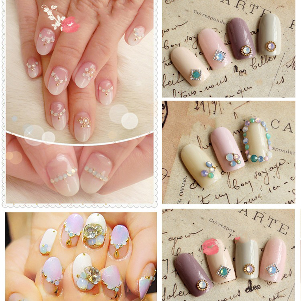 Nail Art Act The Role Ofing Is Tasted Fingernail Blue Green Pink Snow Protein Drill Flat Diamond Diamond Manufacturers Selling