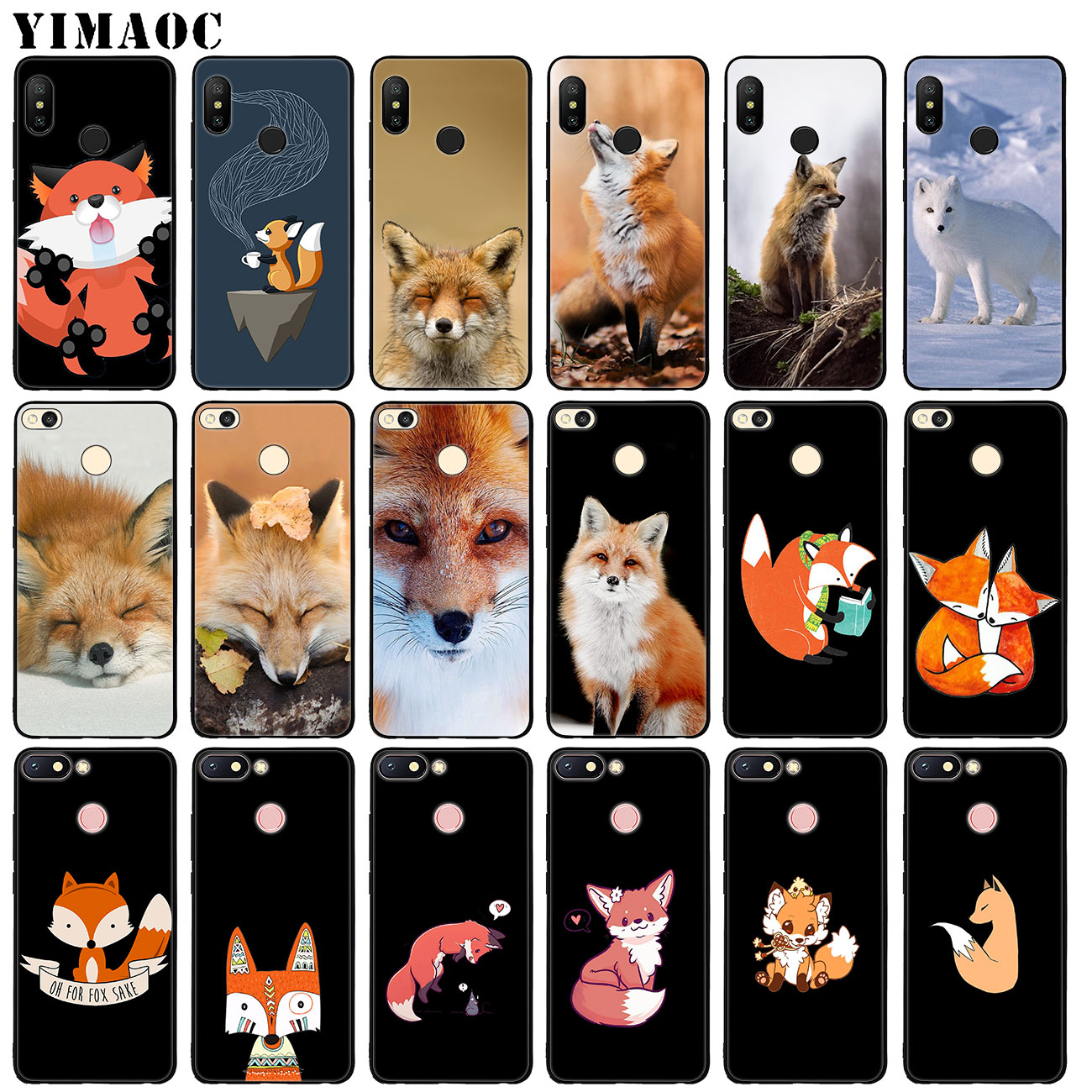 Half-wrapped Case Cat Astronaut Dog Fox Space Moon Universe Foxes Phone Case For Xiaomi Mi 9 8 Se A2 Lite A1 Pocophone F1 5x 5s 6 6x Mix 2s Max 3 Phone Bags & Cases