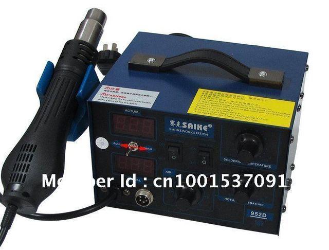 2008 Free shipping NEW arrival saike 952D rework station hot air gun soldering station 220V or 110V