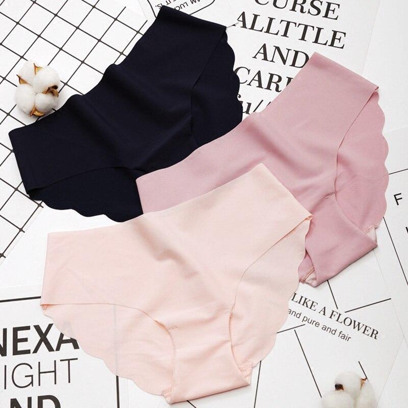 Women Panties Underwear Ultra-thin Seamless Briefs For Women's Comfort Low-Rise Ruffles Sexy Lingerie Summer Fashion Underpants