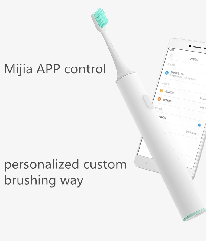 Newest Xiaomi Mijia Sound Waves Smart Toothbrush Bluetooth Waterproof Wireless Charge Mi Home APP Control Xiaomi smart home image