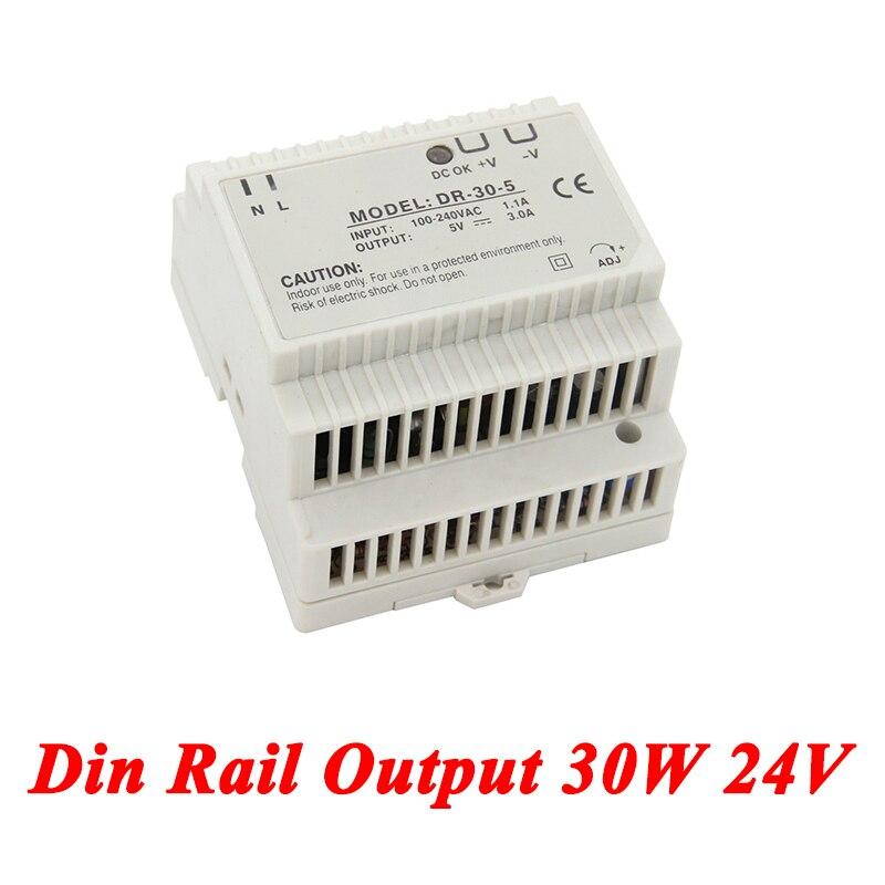 DR-30 Din Rail Power Supply 30W 24V 1.5A,Switching Power Supply AC 110v/220v Transformer To DC 24v,watt power supply ac 220v to dc 24v 6a 150w switching power supply module board high power transformer