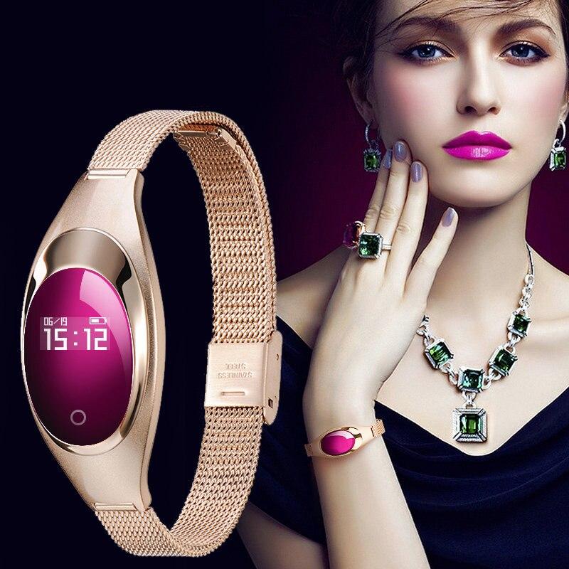 Смарт-часы Для женщин браслет Смарт-часы монитор сердечного ритма шагомер крови Давление для Android IOS Reloj Inteligente Mujer новинка