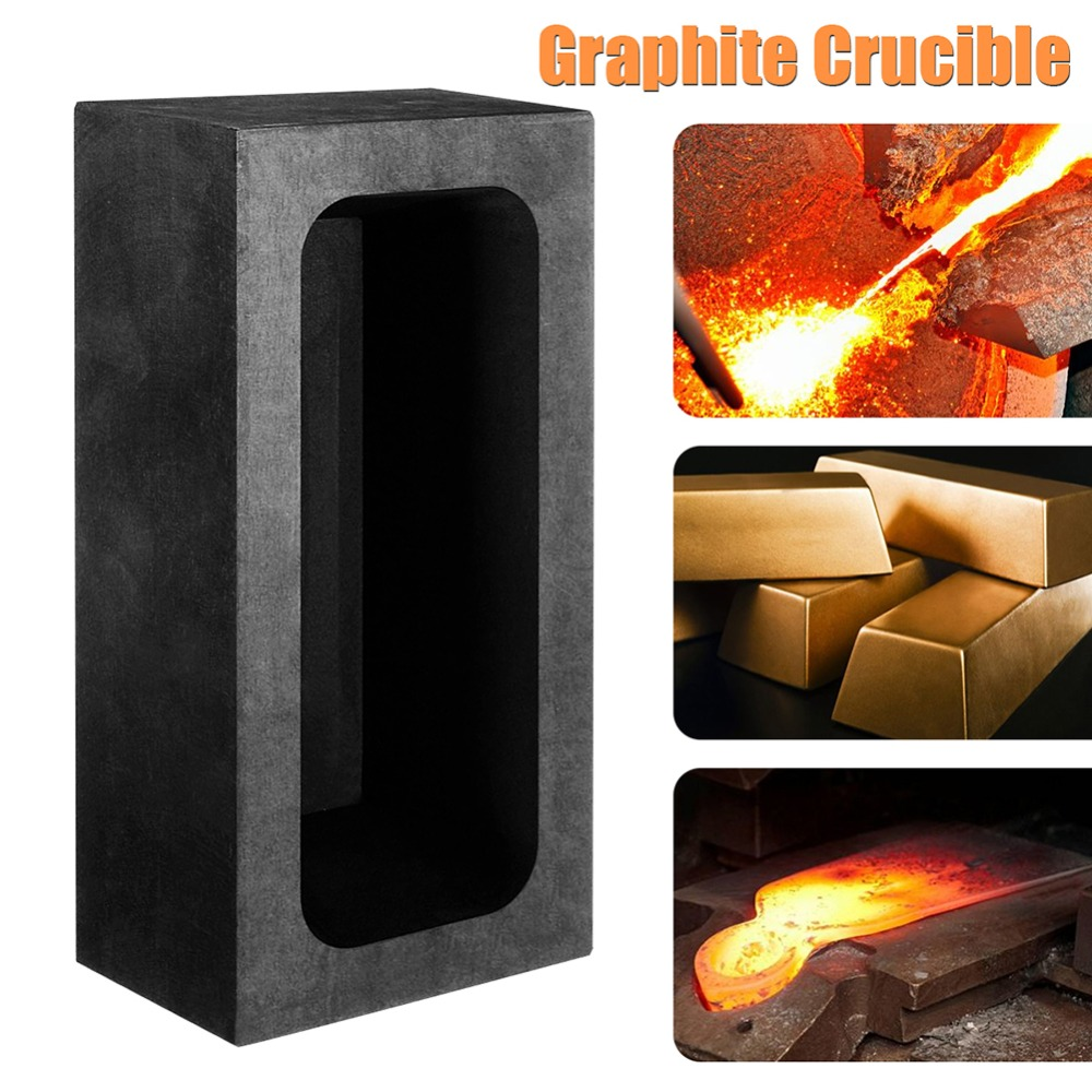 85oz Large Graphite Casting Ingot Mold for Gold Silver Copper Melting  Casting Refining Scrap Bar Crucible Tool Parts