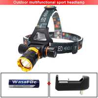 Diving LED Headlamp T6 Light Head Lamp Headlight Flashlight Forehead Underwater Hunting Waterproof Lantern Front 18650 Led Torch