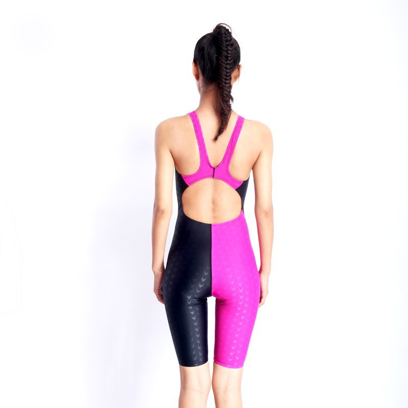 HXBY swimwear girls racing swimsuits sharkskin professional swimsuits knee one piece competition swim suits one piece 20