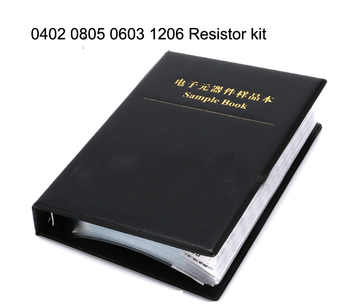 NEW ORIGINAL Smd Resistor Kit 5400pc 1% 5% 0402 0603 0805 1206 Resistors Assorted Kit Set Sample Book For Resistor
