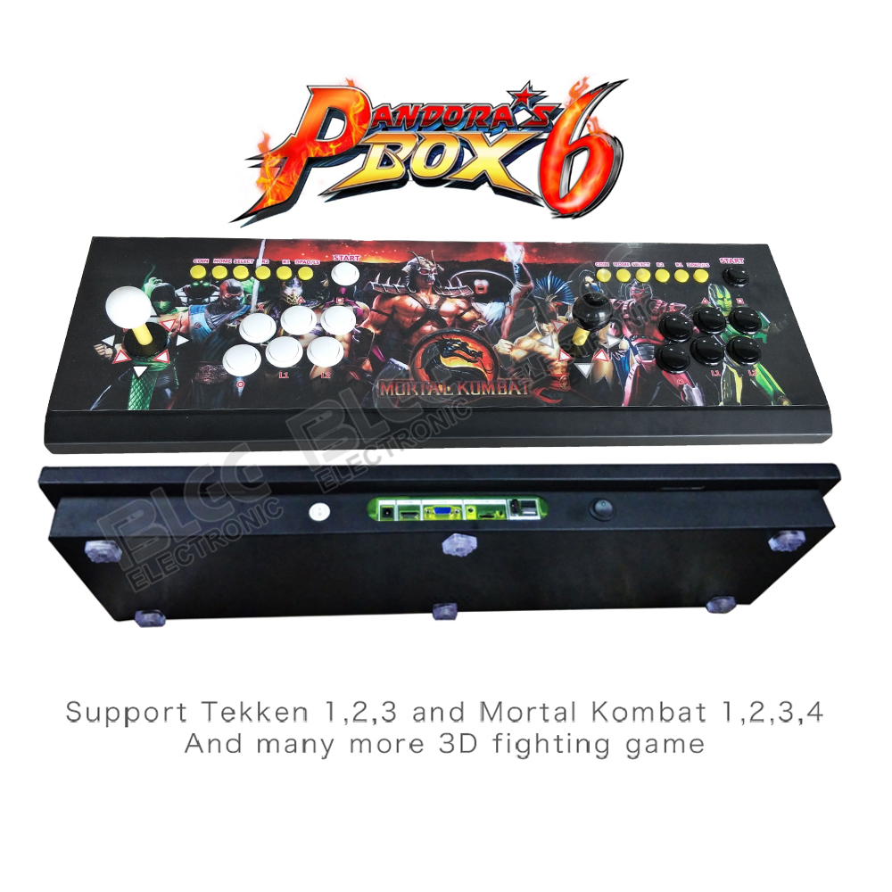 Pandora's Box 6 1300 in 1 fighting Family video game for 2 players arcade console with MORTAL KOMBAT image HDMI VGA out put