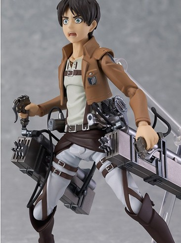 New hot sale <font><b>anime</b></font> figure toy <font><b>figma</b></font> <font><b>207</b></font> <font><b>Attack</b></font> <font><b>on</b></font> <font><b>Titan</b></font> <font><b>Eren</b></font> <font><b>Yeager</b></font> Collection 14CM gift for children free shipping